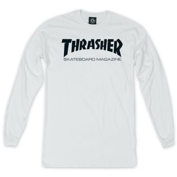 Thrasher - Skate Mag LS White/Black