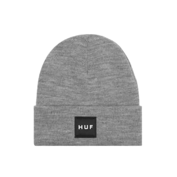 HUF Essentials Box Logo Beanie Grey Heather