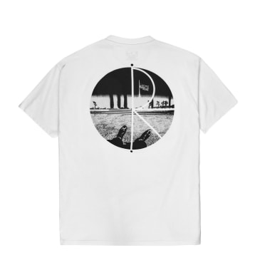 Polar Skate Co Happy Sad Fill Logo T-Shirt - White