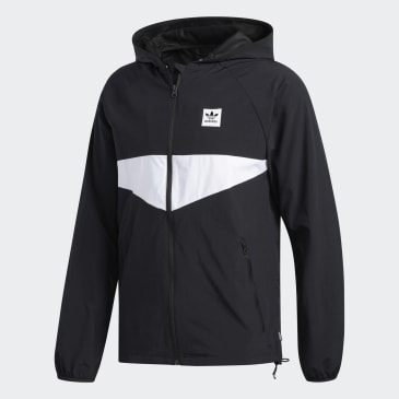 adidas Dekum Packable Wind Jacket - Black/White