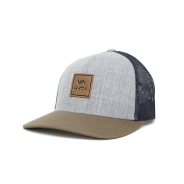 RVCA VA All The Way Curved Trucker Cap - Grey/Green