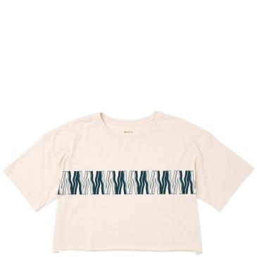 RVCA Womens Va Flow Cropped T-Shirt - Oatmeal