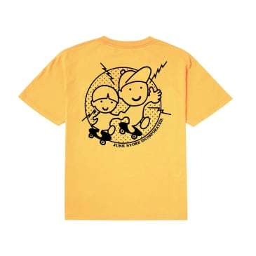 June - YO! Youth Tee - Gold, Black