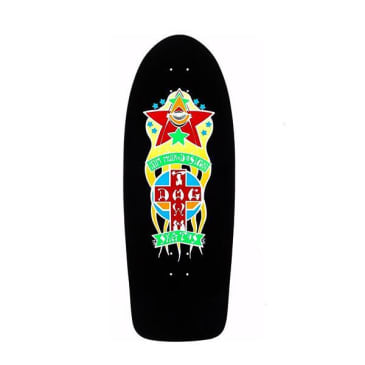 Dogtown Skateboards Triplane Re-Issue Skateboard Deck 11.00 - Black Yorkite/Neon Orange
