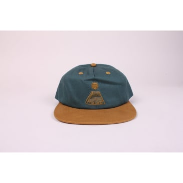 Theories Hat Scribble Pyramid Snapback Evergreen/Mustard