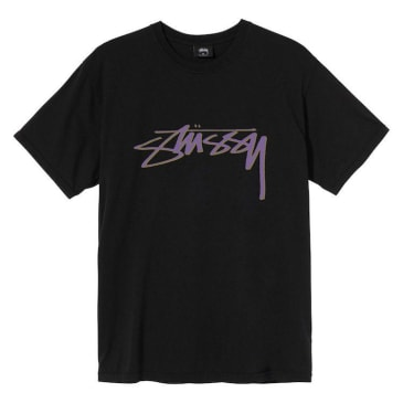 Stussy Smooth Stock Pigment Dyed T-Shirt Black