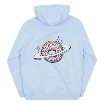 Skateboard Cafe Planet Donut Pullover Hoodie - Baby Blue