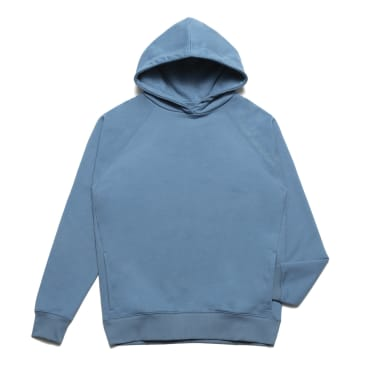 Chrystie NYC - Clean cut side pockets hoodie_Stone Blue
