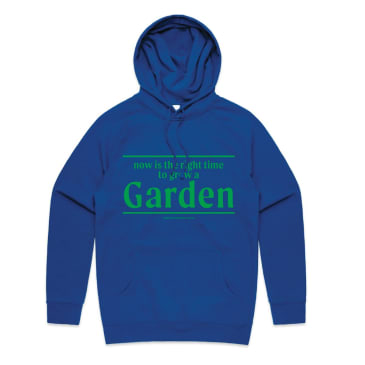 Garden Grow Hooded Sweatshirt - Navy