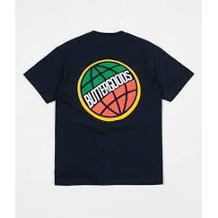 Butter Goods 3D World Wide Logo T-Shirt - Navy