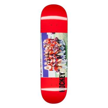 Hockey Cheerleader Red Skateboard Deck - 8.38""
