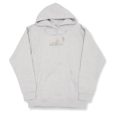 Skateboard Cafe Flower Bed Pullover Hoodie - Ash