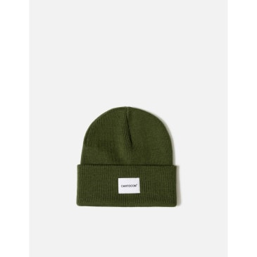 CARTOCON Rib Patch Beanie – Olive Green