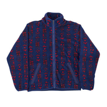 Bronze 56K Vert Fleece - Navy/Red