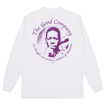 The Good Company Vibrations Long Sleeve T-Shirt - White
