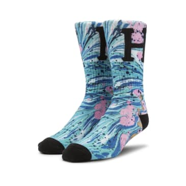 HUF Drip Digital Socks - Pacific Blue