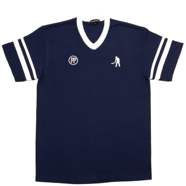 Pass~Port Workers Stripes Jersey - Navy / White