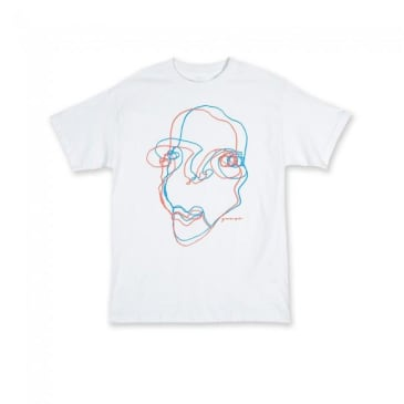 Quasi Face T-Shirt - White