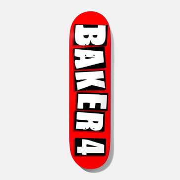 Baker Skateboards Baker 4 OG Red Skateboard Deck - 8.5""