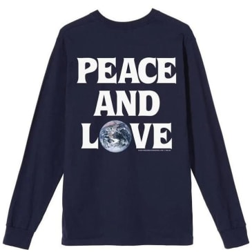 Stüssy Peace & Love Long Sleeve T-Shirt - Navy