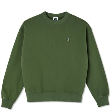Polar Skate Co Patch Sweatshirt - Hunter Green