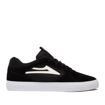 Lakai Proto Vulc Suede Skate Shoes - Black / White