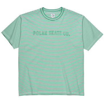 Polar Skate Co Outline Stripe T-Shirt Green