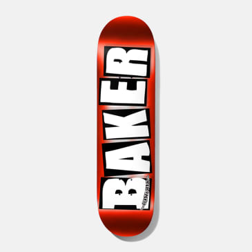 Baker Skateboards Brand Logo Red Foil Skateboard Deck - 8""