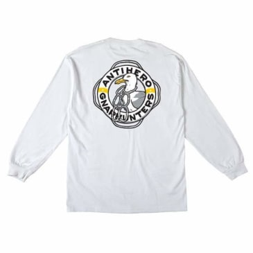 Anti Hero x Gnarhunters Long Sleeve T-Shirt - White
