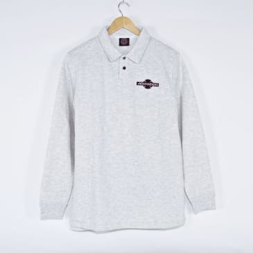 Independent - Original Bar Cross Embroidered Polo Sweatshirt - Heather Grey