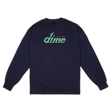 Dime Hotel Long Sleeve T-Shirt - Navy