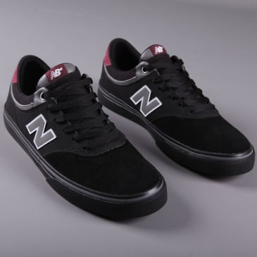 New Balance Numeric '255' Skate Shoes (Black / Burgundy)