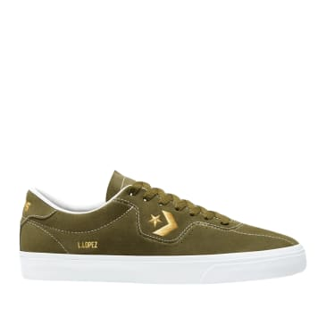 Converse CONS Louie Lopez Pro Ox Shoes - Dark Moss / Gold / White