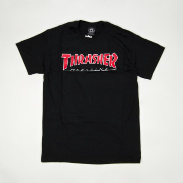 Thrasher - Outlined Logo T-Shirt - Black
