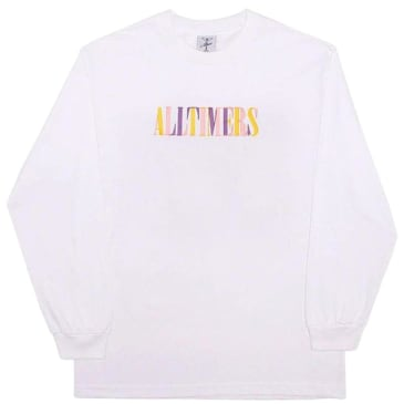 Alltimers Midtown Embroidered Long Sleeve T-Shirt - White
