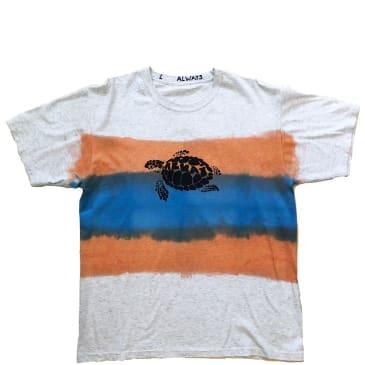 always do what you should do turtle hand dye T-Shirt - Orange Blue