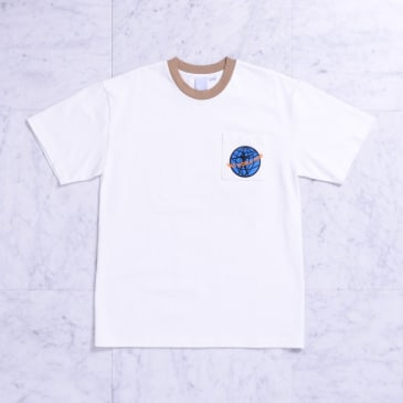 Quasi QWP Pocket Tee White/Tan