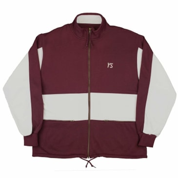 Yardsale YS Draw String Full Zip - Burgundy / White