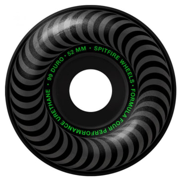 Spitfire Formula Four Classic Wheels Blackout 99DU 52mm