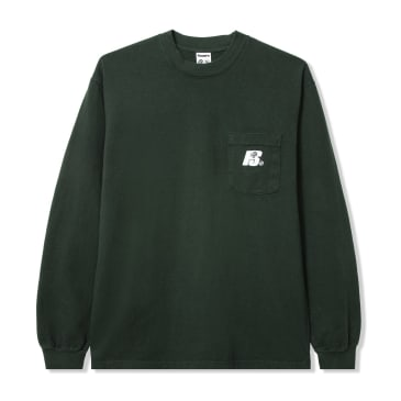 Powers Heavy Long Sleeve T-Shirt - Forest Green