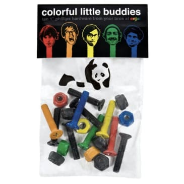 "Enjoi Colourful Little Buddies 1"" Phillips Bolts"