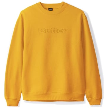 Butter Goods Pigment Dye Crewneck Sweatshirt - Yellow
