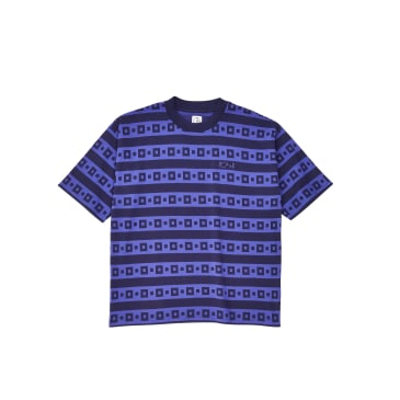 Polar Skate Co Square Stripe Surf T-Shirt - Navy / Purple
