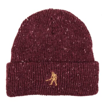 Pass-Port Speckle Workers beanie burgundy