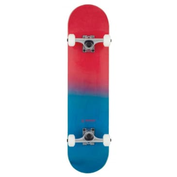 """Rocket Double Dipped Complete Skateboard - 7.5"""" Red/Blue"""