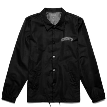 Chrystie NYC Collegiate Logo Coach Jacket - Black