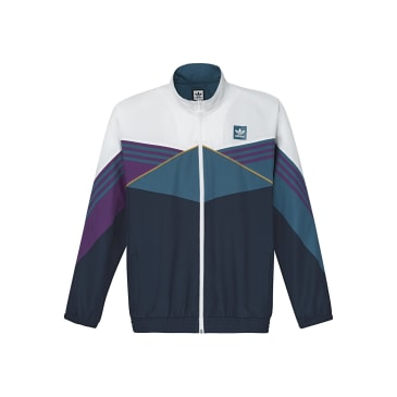 adidas Court Jacket - White / Collegiate Navy / Tribe Purple