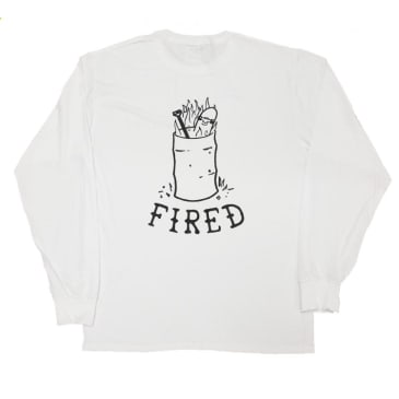 Our Life Fired Long Sleeve T-Shirt - White