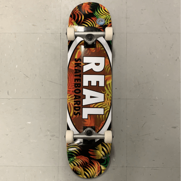 Real Skateboards Oval Logo Multi Leaves Complete 7.75 Medium