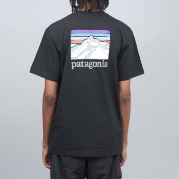 Patagonia Line Logo Ridge Pocket Responsibili T-Shirt - Black